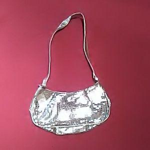 Gold foil shoulder bag